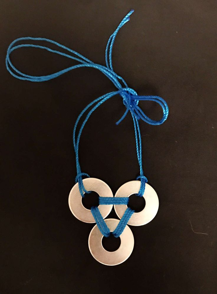 A personal favourite from my Etsy shop https://www.etsy.com/au/listing/506099356/blue-rope-triangle-washer-pendant