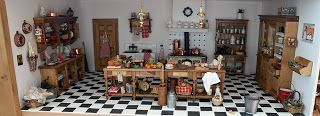 The kitchen in my dollhouse that I build in a display cabinet