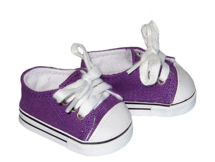 American Boy Doll Shoes.  Silly Monkey - Purple Low-Rise Sneakers, $6.50 (http://www.silly-monkey.com/products/purple-low-rise-sneakers.html)