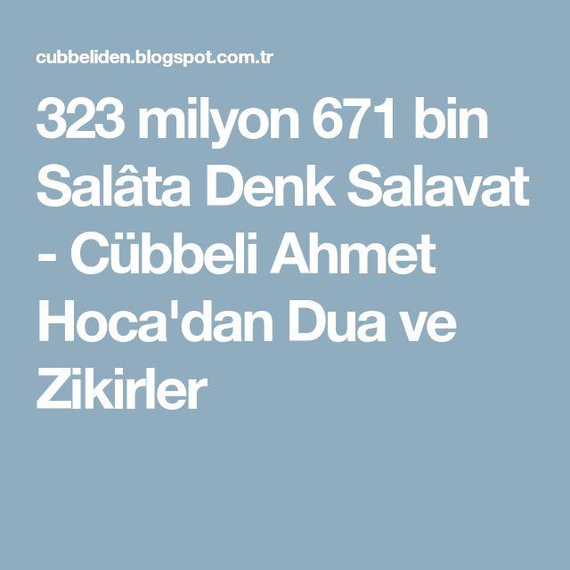 323 milyon 671 bin Salâta Denk Salavat - Cübbeli Ahmet Hoca'dan Dua ve Zikirler