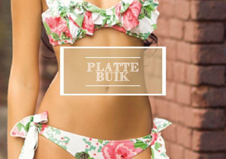 Wil je weten wat je moeten eten en doen van sport om een platte buik te krijgen? Lees dan dit artikel #stomach #waist #buik #plat #small #mager #diet #dieëten #belly