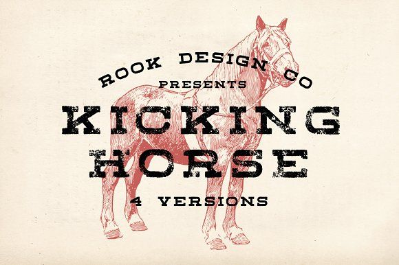 Kicking Horse - 4 Font Family by Greg Nicholls on @creativemarket