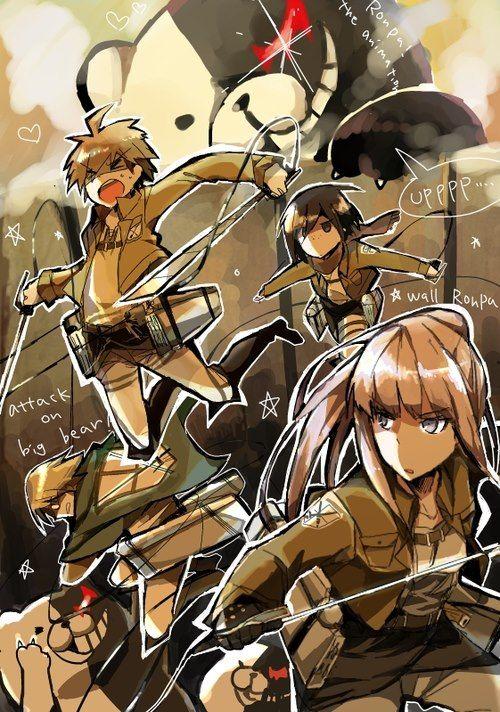 Dangan Ronpa x Shingeki no Kyojin - Attack on Monobear (THIS CROSSOVER IS THE BEST EVER )