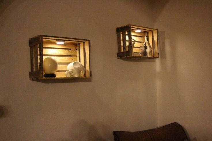 LED Weinkisten-Wand-Lampe massiv aus receycle Altholz made in Germany-Ohne Deko- | Möbel & Wohnen, Beleuchtung, Lampen | eBay! – Cärry Gold