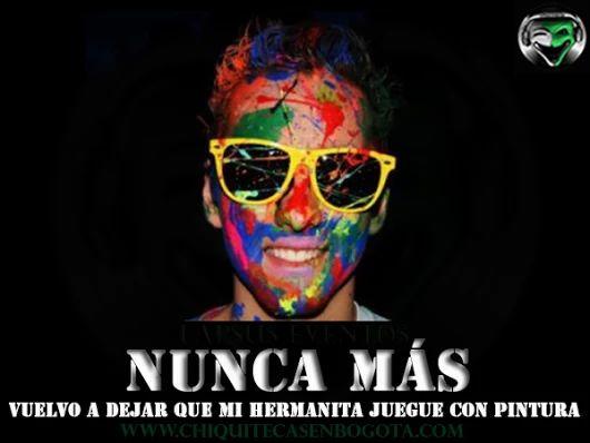 Prepárate para los nuevos servicios adicionales para tu fiesta de neón o Glow Party ¡GUERRA DE PINTURA DE NEÓN!  Lapsus Eventos www.chiquitecasenbogota.com