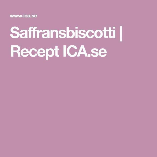 Saffransbiscotti | Recept ICA.se