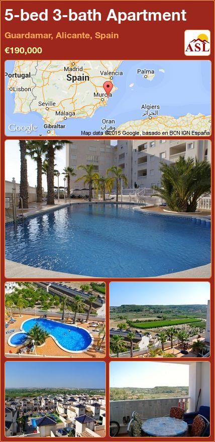 5-bed 3-bath Apartment in Guardamar, Alicante, Spain ►€190,000 #PropertyForSaleInSpain