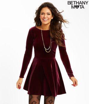 Solid Velvet Dress - Aéropostale®