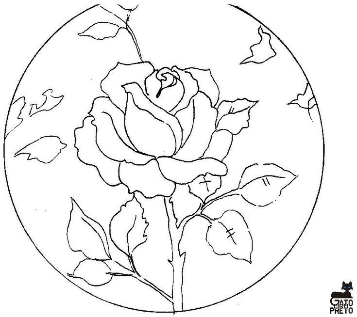 24 best poncho n1 images on Pinterest | Dibujos de rosas, Plantillas ...