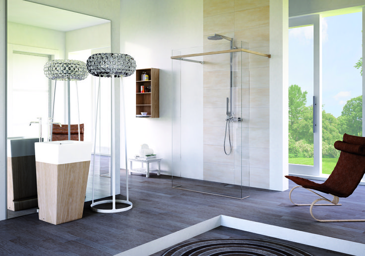 Materia - #wood and aluminum profiles #megius #shower