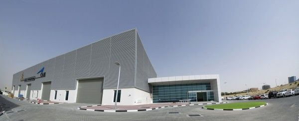 an exterior shot of the Emirates-CAE facility at DSO