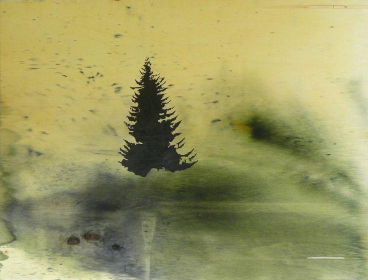 Chit, olio e mordente su tavola, 92X106, 2010
