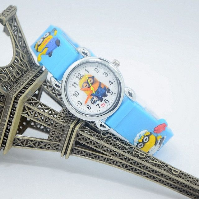 Despicable Me Minions Watch Quartz Women Clock Leather Cartoon Watches Children Relojes Mujer 2016 Fashion Infantil Reloj