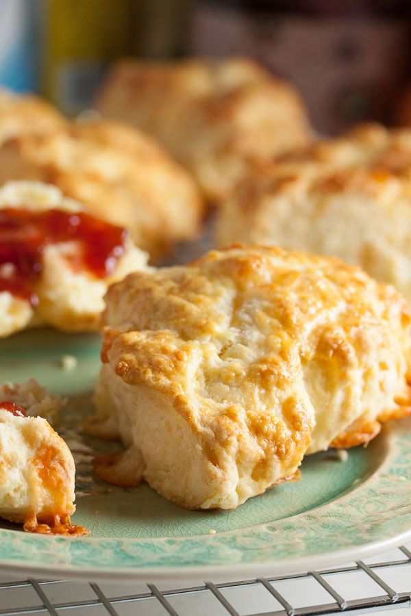 These Cheese Scones are slightly crusty on the outside, and flaky and tender and incredibly buttery on the inside.