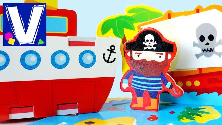 Игрушки для детей. Наборы для игры в ванной 3D кораблик и остров сокровищ. Bath time. Bath toys. Влад купается и играет с новыми игровыми наборами для купани...
