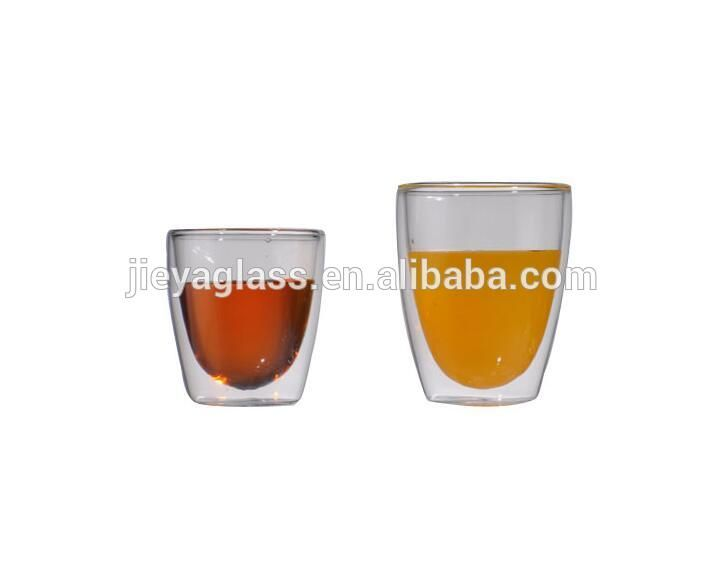 factory customized double wall coffee cups glass coffee cups with different sizes