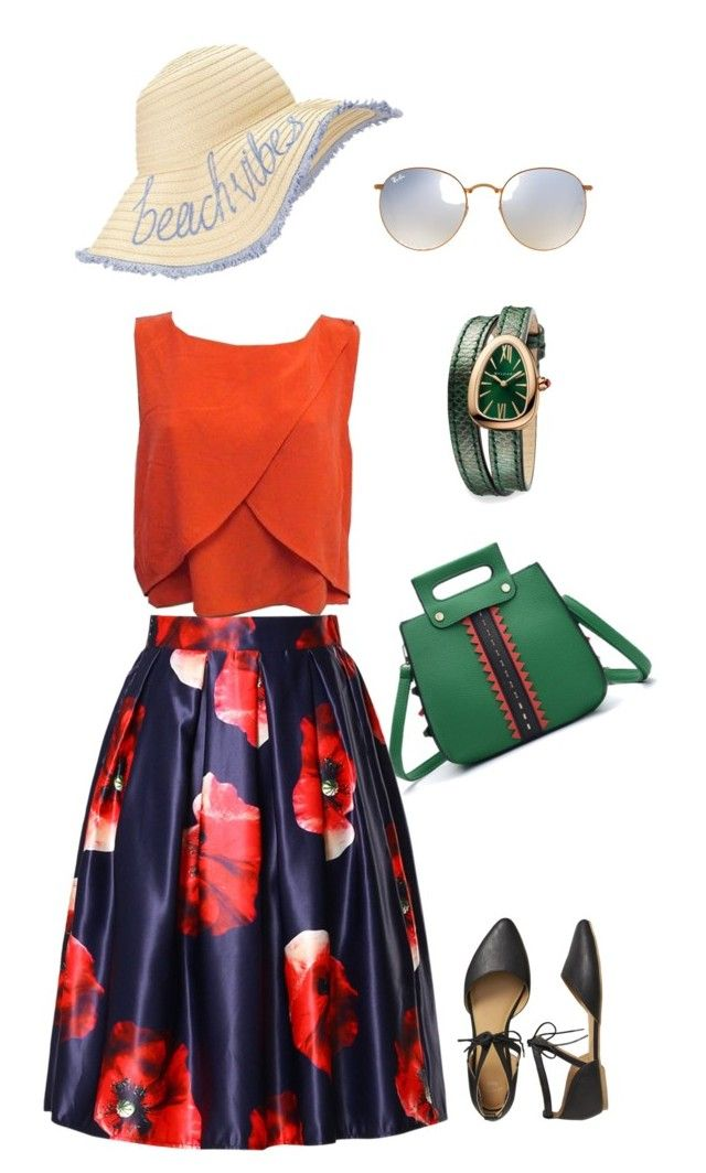 """""""маки"""" by dilmirai on Polyvore featuring Ray-Ban, Bulgari, WithChic, Rebecca Minkoff, Miss Selfridge and Gap"""