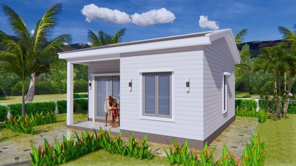 Small House Design Plans 5x7 With One Bedroom Shed Roof House Design 3d Small House Design Plans Gable Roof House One Bedroom House Plans