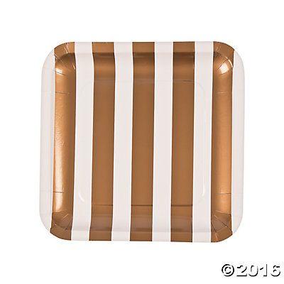 Gold & White Wedding Dinner Plates