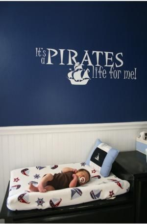 Nautical Nursery- I would not make a Nursery like this because we wont ever find out the sex of our baby before birth but this would be cute for a little boys room!