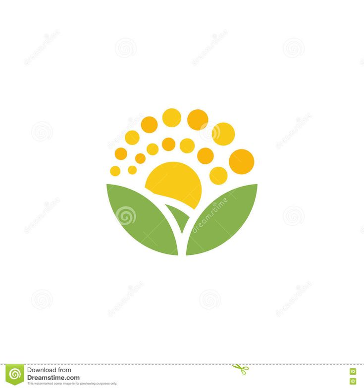 Isolated cartoon nature landscape with meadow logo. Summer sunset,sunrise, countryside panorama. Round shape natural