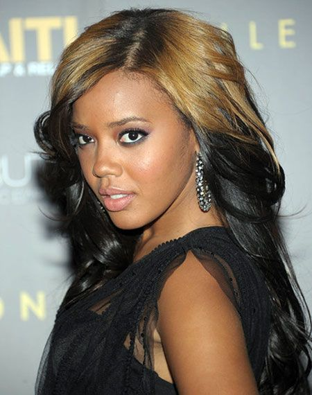 Angela Simmons' Long Wavy Ombre Hairstyle