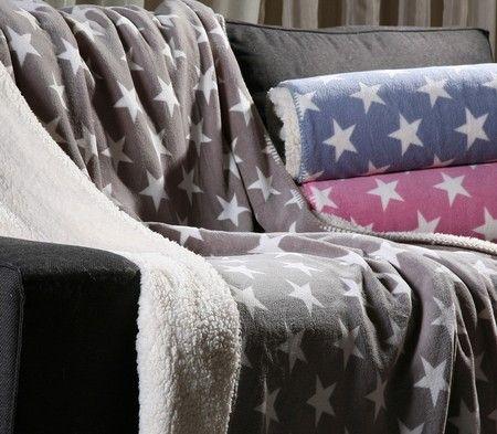 Κουβέρτα καναπέ Fleece Night Stars 130x170