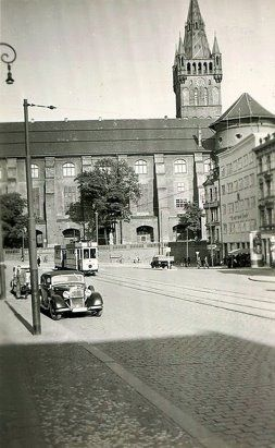 Кёнигсберг. Fritz-Tschierse-Platz (бывш. Gesekusplatz). Фото ок. 1940 года.