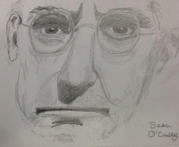 my sketch of Irish playwright Sean O'Casey