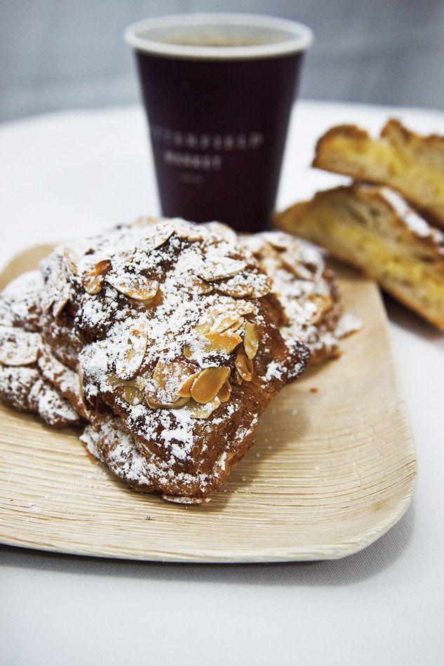 Almond croissant demo by François Payard. -