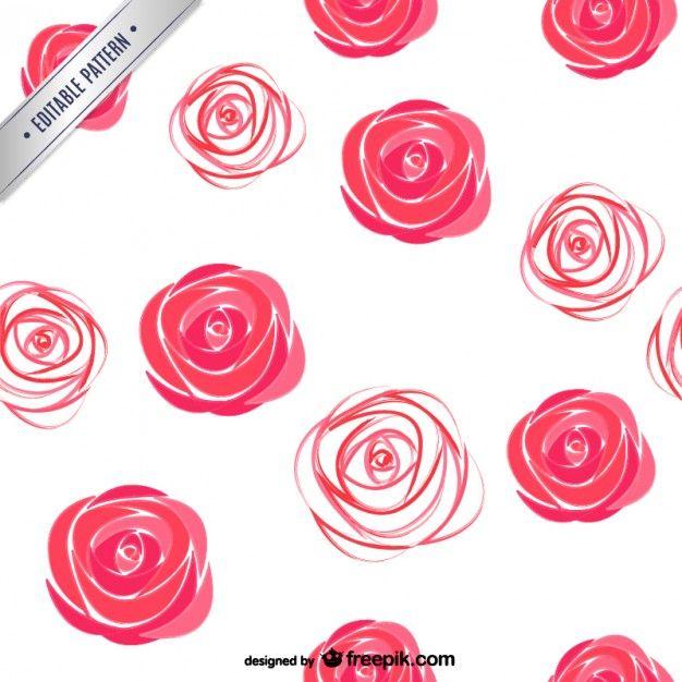 Patrón de rosas de acuarela Vector Gratis