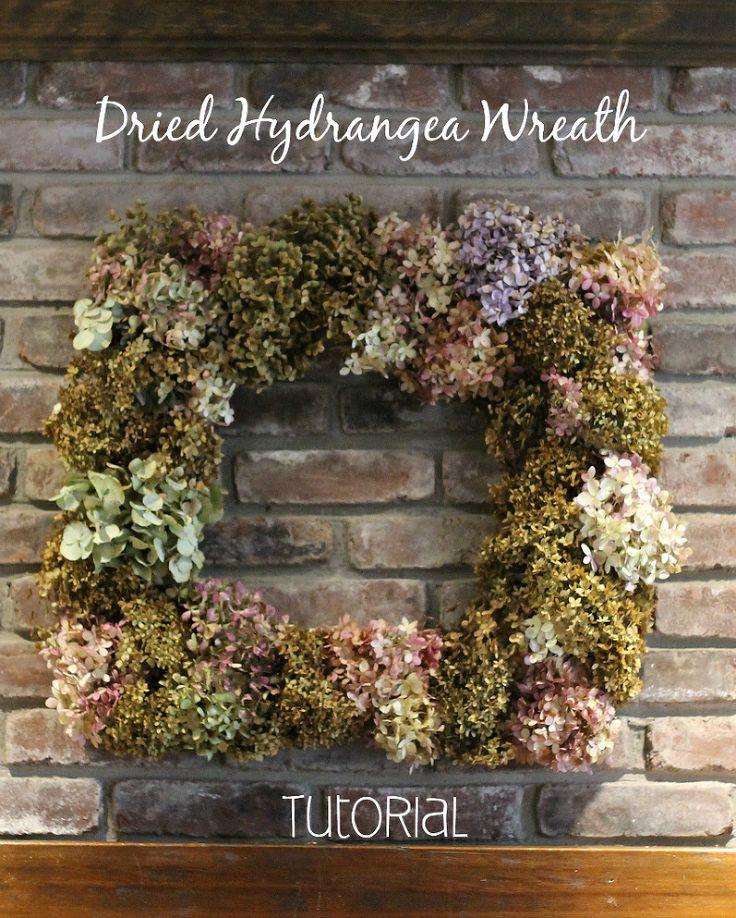 Hometalk :: How to Make a Square Dried Hydrangea Wreath