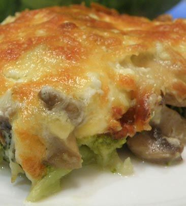 Fırında brokoli ve mantar