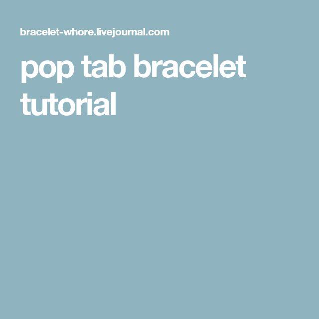 pop tab bracelet tutorial