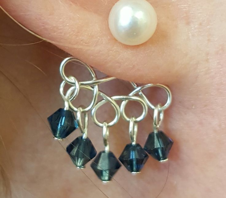 DIY Ear Jackets with the Artistic Wire Findings Forms by Beadalon