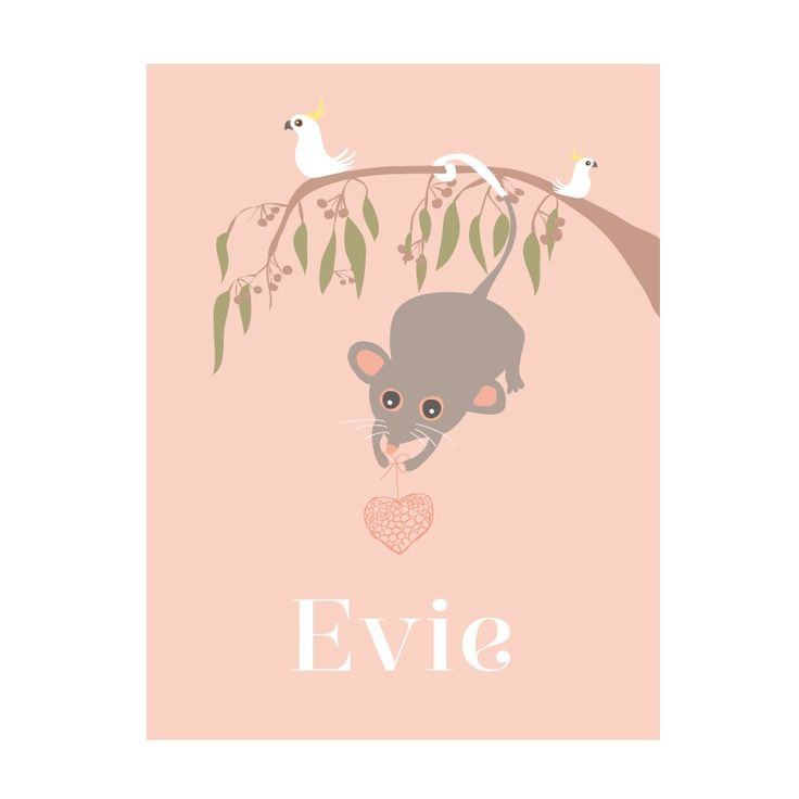 Personalised Possum Art Print - hardtofind.