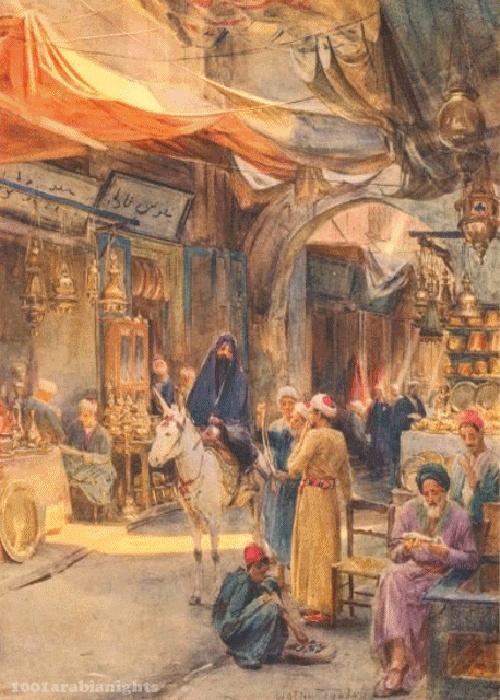Egypt ' the-khan-khalil ' Cairo vintage - 1912