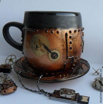 Handmade Steampunk Coffe Cup Steampunk Pinterest