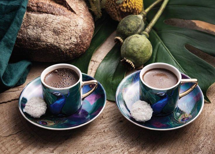 """0 Beğenme, 1 Yorum - Instagram'da Nil Göksun Kılıç (@nilgoksunkilic): """"#Karaca #Peacock #KahveFincanı by #nilgoksunkilic ☕️#tavuskuşu #cup #tableware #turkishcoffee"""""""
