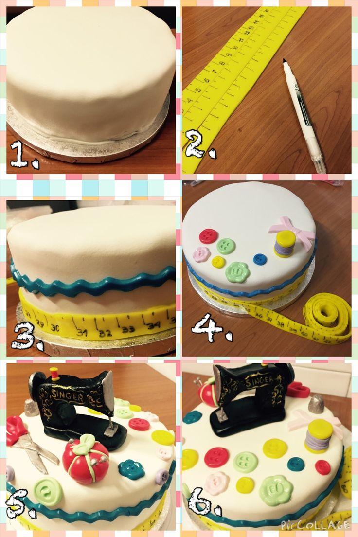 how to make a fondant birthday cake step by step