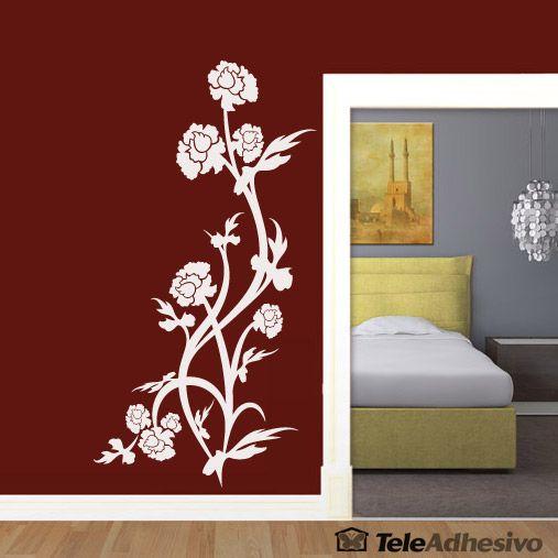 1000 images about vinilos decorativos florales en - Esquineras de pared ...