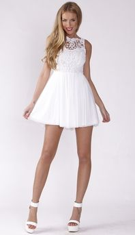 AFTER PARTY DRESS IN WHITE $39.99 http://www.popcherry.com.au/