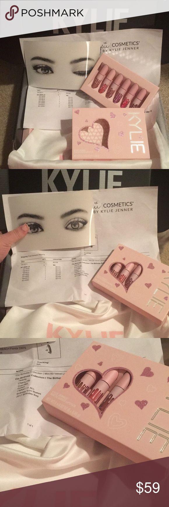Kylie Cosmetics 6 Mini Liquid Matte Lipsticks Brand new with receipt  6 Birthday 2017 Mini mattes Liquid Lipstick  Authentic Kylie Cosmetics Makeup Lipstick