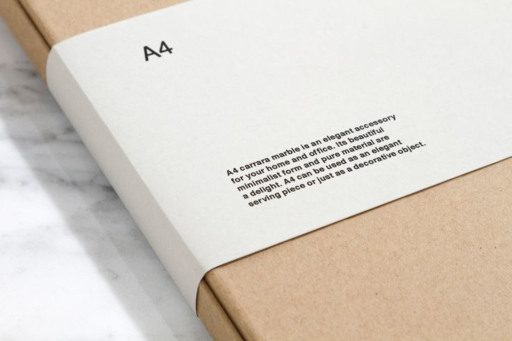 Tony Eräpuro. Engraved carrara marble. A4 size 210x297mm, ISO 216, typography, graphic design, packaging, kraftline, cardboard, sleeve, belly band