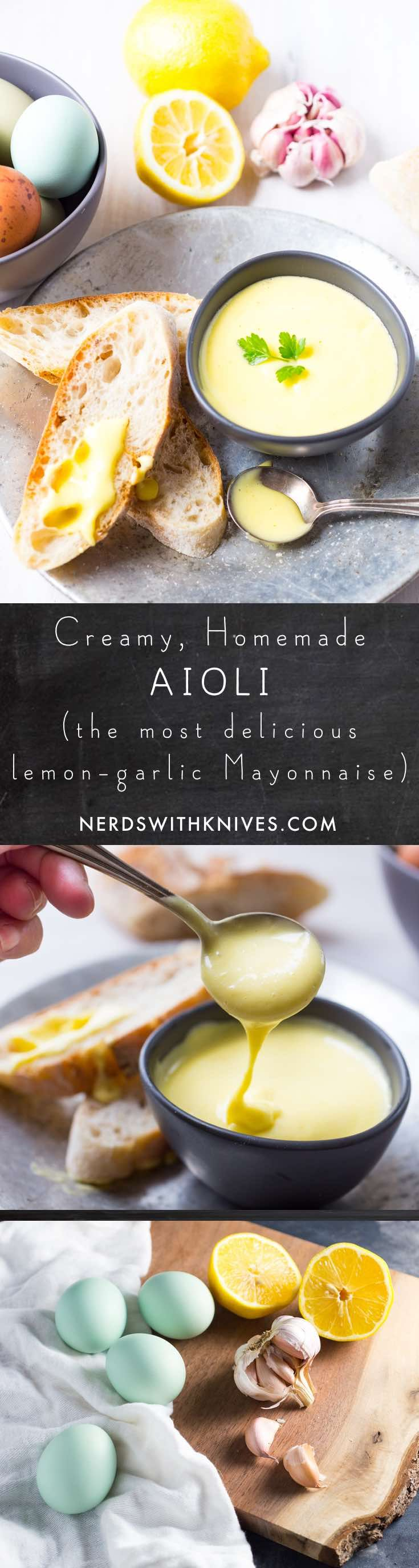 Creamy, Homemade Aïoli (Garlicky, Lemony Mayonnaise)