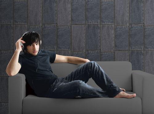 Skap en tøff look med Denim på veggen. #Wallpaper