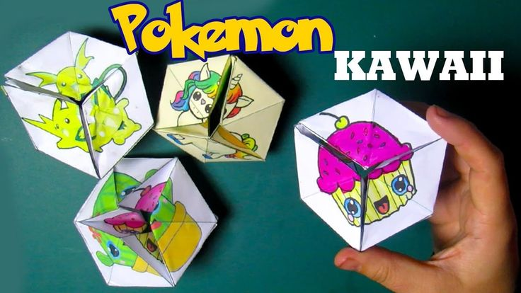 Eeuwig Pokemon Kawaii DIY - Papieren Speelgoed Kaleidocycle Flexagon