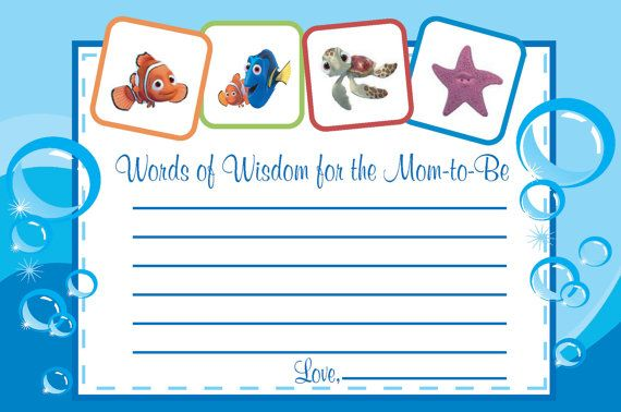Finding Nemo words of wisdom cards by jennya309 on Etsy, $6.50