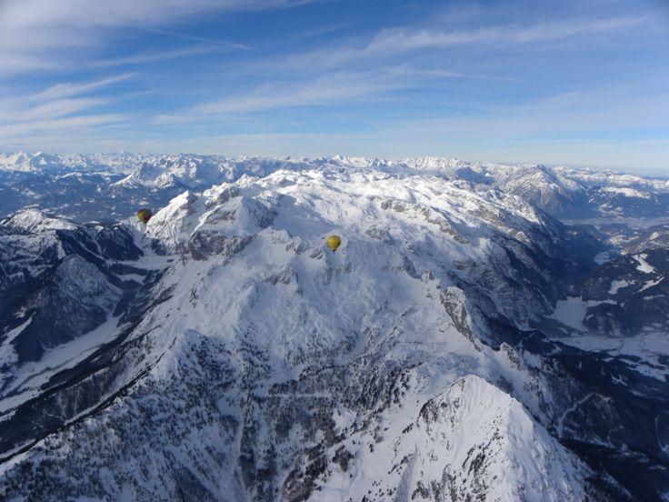 Alpy z balónu