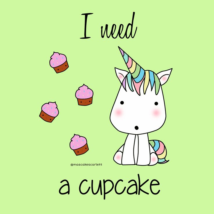Unicorn kawaii cupcake